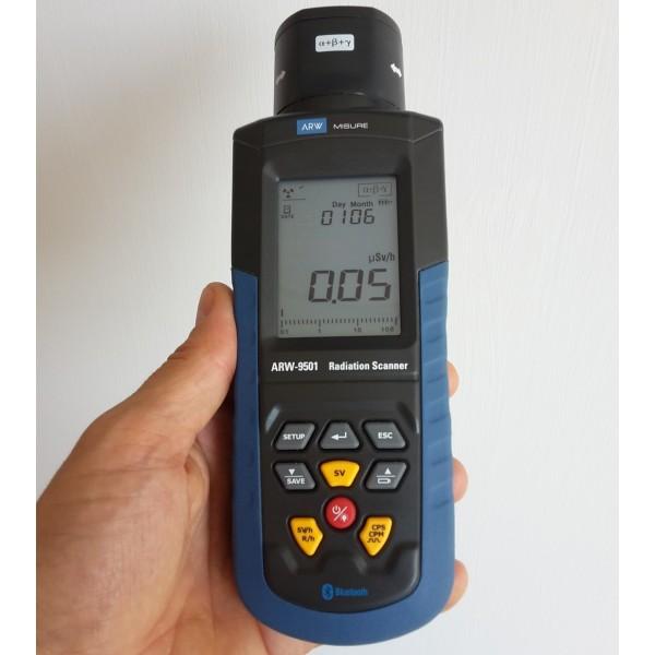 x ray detector misuratore radioattività dettaglio display