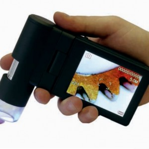 Microscopio portatile con display LCD